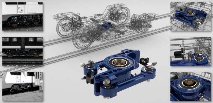 """<Font size=""""5"""">Wyposażenie wózka kolejowego – urządzenia pociągowe</font><p><p><font size=""""3"""">Model 3D, dokumentacja wykonawcza 2D</font></p></p>"""